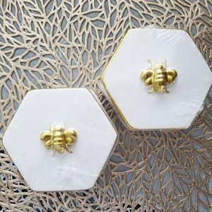 🐝 BEE DESIGNER INSPIRED WHITE GOLD JEWELRY BOX